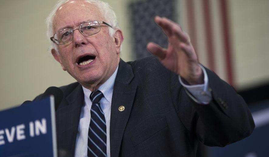 Democratic presidential candidate, Sen. Bernie Sanders, I-Vt.  speaks during a campaign a campaign event,  Friday, Jan. 29, 2016, in Mt. Pleasant, Iowa. (AP Photo/Evan Vucci)