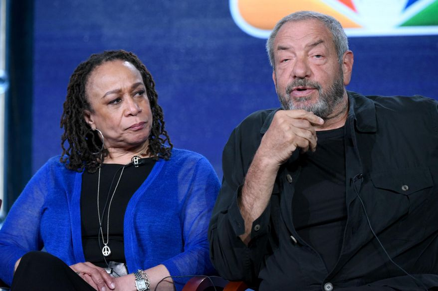 """FILE - In this Jan. 13, 2016 file photo, S. Epatha Merkerson, left, and executive producer Dick Wolf participate in the """"Chicago Fire,"""" """"Chicago P.D."""" and """"Chicago Med"""" panel at the NBCUniversal Winter TCA in Pasadena, Calif. NBC has signed a new production deal with prolific producer Dick Wolf, ensuring an 18th season of """"Law & Order: SVU"""" and the continuation of his Chicago trilogy of dramas.The deal, announced on Monday, Feb. 1, binds Wolf with NBC Universal through 2020, by which time he will likely have even more programs on the network's schedule. (Photo by Richard Shotwell/Invision/AP, File)"""