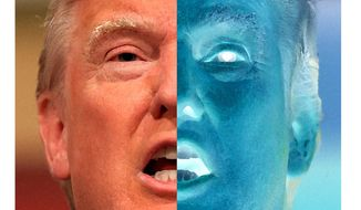 Illustration on Donald Trump's negative ratings         The Washington Times