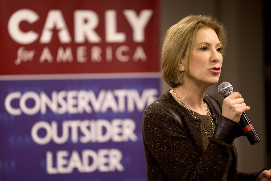 Republican presidential candidate Carly Fiorina speaks during a campaign event at Iowa State University, Saturday, Jan. 30, 2016, in Ames, Iowa. (AP Photo/Mary Altaffer)