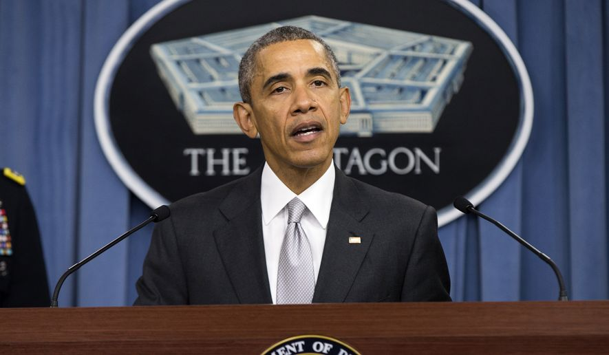 """It is clear that the United States and our allies must do more to advance our common defense in support of a Europe that is whole, free and at peace,"" President Obama said. (Associated Press)"