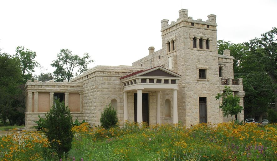 This April 2012 photo provided by the Austin Parks & Recreation Department shows the Elisabet Ney Museum in Austin, Texas. A celebrated German sculptor, Ney established her home and studio in the castle-like building in 1892. Her works and tools are displayed there, and visitors can also wander the restored grounds, which teem with native greenery and wildflowers. (Austin Parks & Recreation Department via AP)
