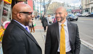 Deacon Bobby White (right) and his son, Robert White. Photo courtesy Robert White
