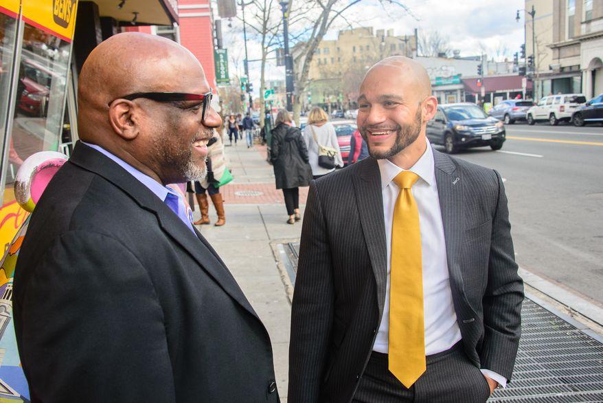 Deacon Bobby White (right) and his son, Robert White. Photo courtesy Robert White