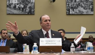 Rep. Dan Kildee, D-Mich., testifies on Capitol Hill in Washington, Tuesday, Feb. 3, 2016, before the House Oversight and Government Reform Committee hearing to examine the ongoing situation in Flint, Mich. (AP Photo/Molly Riley) ** FILE **