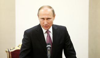 Russian President Vladimir Putin announced the deployment of S-400 missiles in Syria as he and other officials in Moscow escalated a war of words with Ankara after Tuesday's shootdown, which Turkey claims was justified on grounds that two Russian fighters ignored repeated warnings to change direction after entering Turkish airspace. (Associated Press)