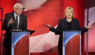Sen. Bernard Sanders on Thursday night slammed presidential primary rival Hillary Clinton's judgment on foreign policy, conceding she has more experience in global affairs but has consistently made the wrong decisions. (Associated Press)