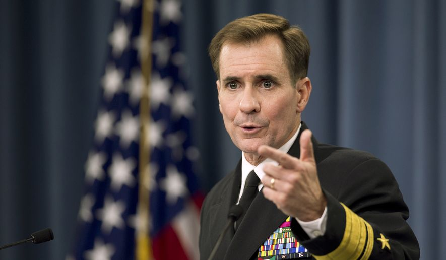 State Department spokesman John Kirby. (Associated Press) ** FILE **