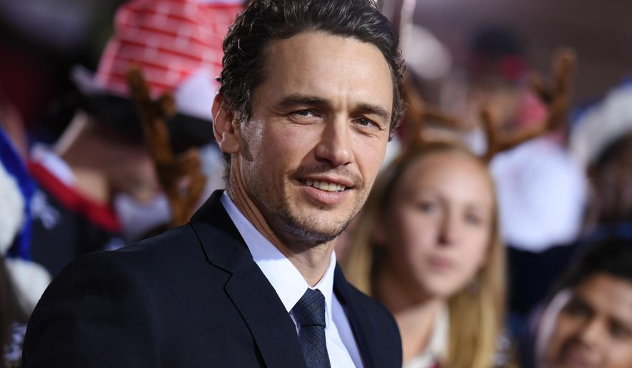 """FILE - In this Nov. 18, 2015 file photo, actor James Franco attends the LA Premiere of """"The Night Before"""" held at The Theatre at Ace Hotel in Los Angeles. The Zola twitter story about a wild road trip to Florida that went viral late last year is in development to be turned into a feature film that Franco is to direct. (Photo by Richard Shotwell/Invision/AP, File)"""