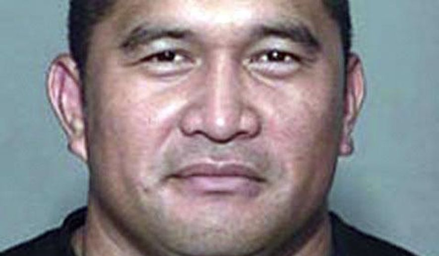 In this 2011 booking photo released by the Hawaii County Police Department is Randall Hatori. The brother of a Big Island man who died after police pulled him over has filed a lawsuit saying officers used a stun gun on him, beat him while he was incapacitated and delayed getting medical help. Randall Hatori was in a car officers pulled over in Kailua-Kona in 2014. Police arrested the driver on a warrant, but Hatori ran away. According to the lawsuit, an officer deployed a stun gun, knocking Hatori down. The lawsuit alleges officers beat Hatori and then while he was face-down on the asphalt, another officer arrived and repeatedly kicked him. (Hawaii County Police Dept. via AP)
