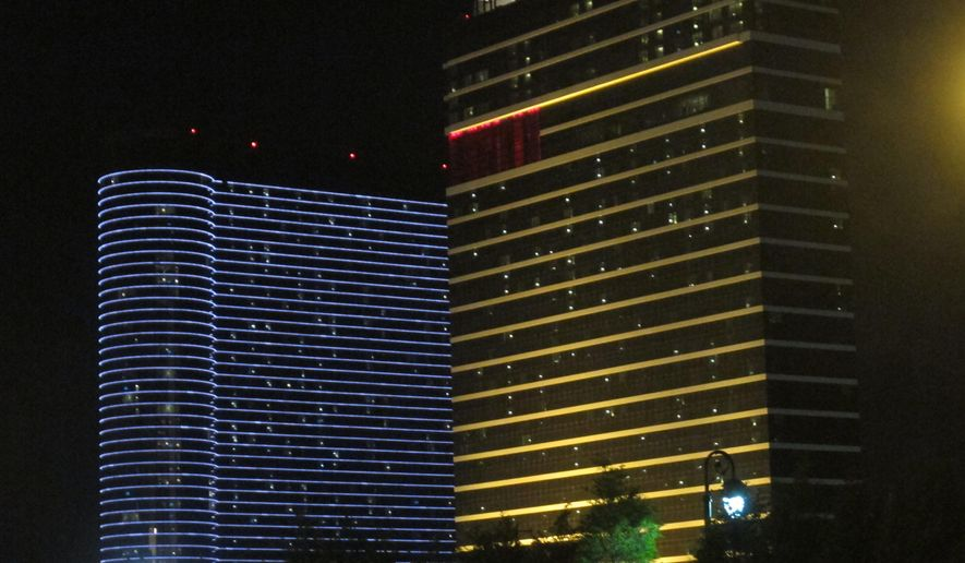 This Aug. 31, 2012 photo shows the Borgata casino in Atlantic City, N.J. On Friday Feb. 5, 2016, the casino said it would stop making tax payments until Atlantic City handed over $62.5 million in tax appeal money that a state judge ordered the city to pay the casino.(AP Photo/Wayne Parry)