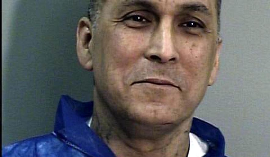 "FILE - This undated file photo from the California Department of Corrections and Rehabilitation shows Rene ""Boxer"" Enriquez, a former leader of the Mexican Mafia prison gang who now helps law enforcement.  State parole commissioners are again recommending parole for Enriquez, a convicted murderer, who has been in prison since 1993.  Gov. Jerry Brown rejected parole for Enriquez last year and could reject it again.(AP Photo/California Department of Corrections and Rehabilitation, File)"
