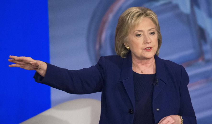 Democratic presidential candidate Hillary Clinton speaks in Derry, N.H. (AP Photo/John Minchillo, File)