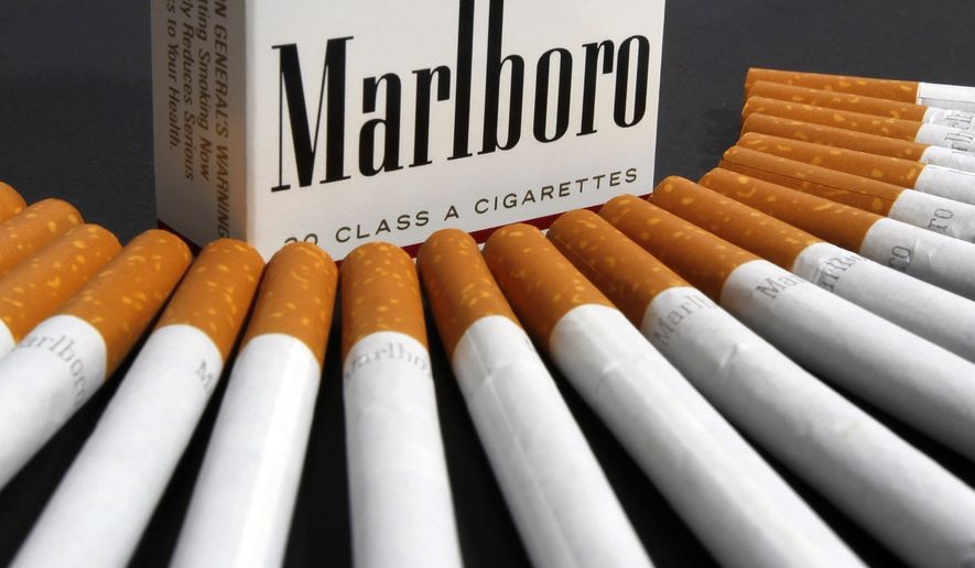 In this July 17, 2012, file photo, Marlboro cigarettes are displayed in Montpelier, Vt. (AP Photo/Toby Talbot, File)