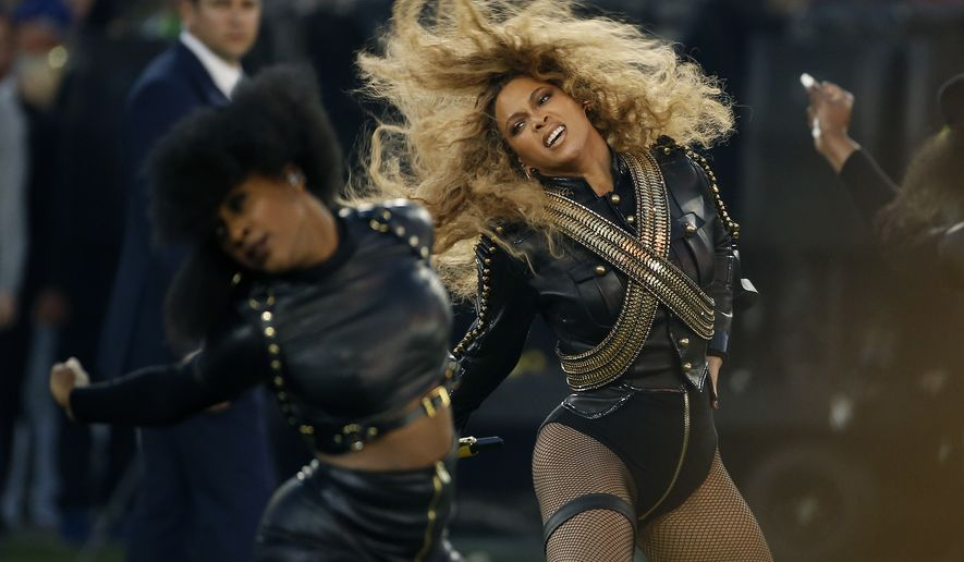 Beyonce performs during halftime of the NFL Super Bowl 50 football game Sunday, Feb. 7, 2016, in Santa Clara, Calif.  (AP Photo/Matt Slocum)