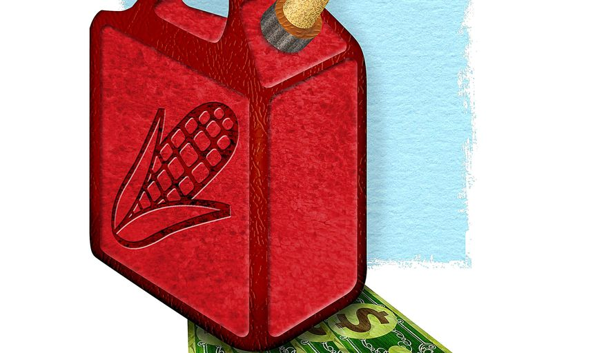 Cost of Ethanol on the Economy Illustration by Greg Groesch/The Washington Times