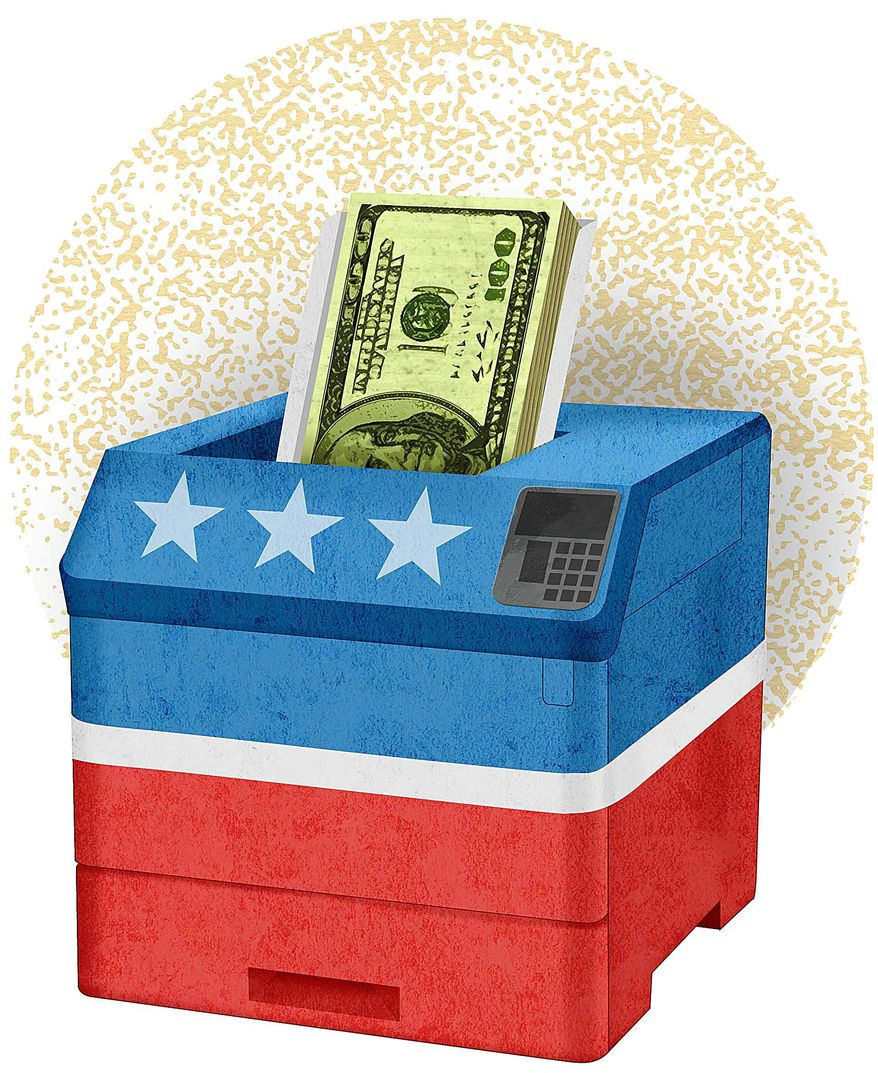 Changing Campaign Financing Rules Illustration by Greg Groesch/The Washington Times