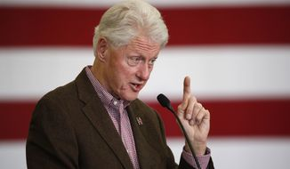 """Former President Bill Clinton, still one of the most popular figures in the Democratic Party, has taken harsh shots at Bernard Sanders, saying, among other things, that the Vermont senator lives in a """"hermetically sealed"""" fantasy land and has a platform full of wholly unrealistic policy proposals. (Associated Press)"""