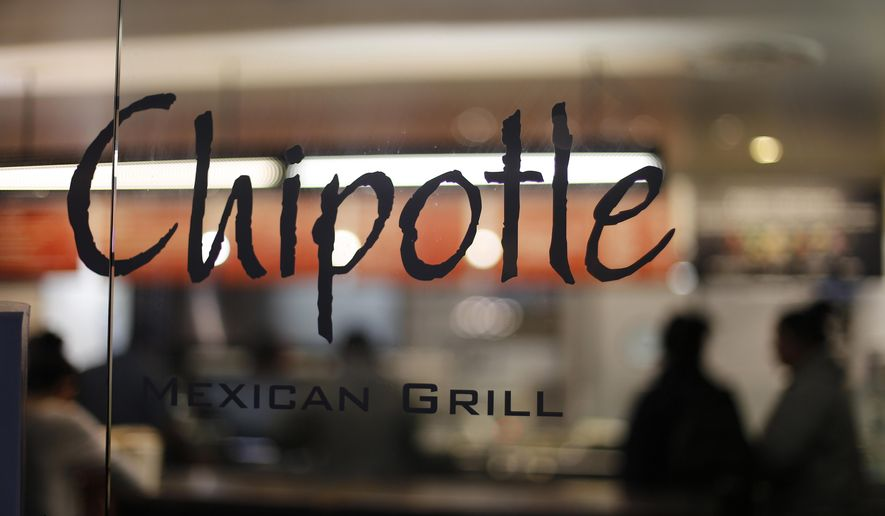 FILE - This Sunday, Dec. 27, 2015, file photo, shows a Chipotle restaurant in Union Station in Washington. Chipotle restaurants around the country are opening later than usual Monday, Feb. 8, 2016, so workers can attend a meeting about the chain's recent food safety scares. (AP Photo/Gene J. Puskar, File)