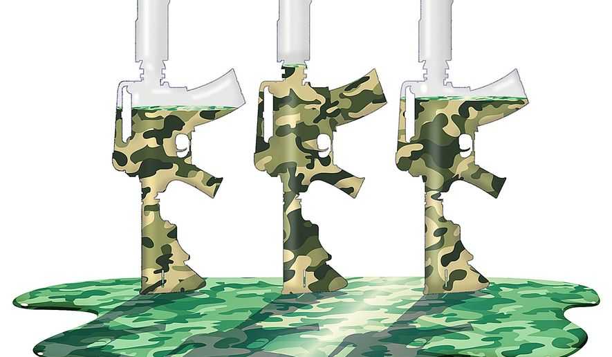Draining Military Morale Illustration by Greg Groesch/The Washington Times