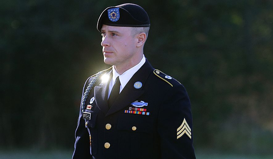 Army Sgt. Bowe Bergdahl arrives for a pretrial hearing at Fort Bragg, N.C. on  Jan. 12. (Associated Press)