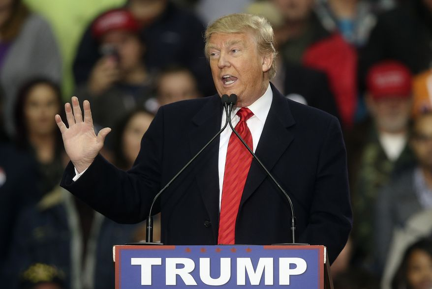 Republican presidential candidate Donald Trump speaks during a rally at Clemson University  Wednesday, Feb. 10, 2016, in Pendleton, S.C. (AP Photo/John Bazemore)