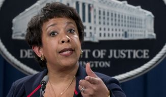 Attorney General Loretta Lynch, who has been mentioned as a possible Supreme Court nominee, will be among the guests representing different generations of civil rights leaders at the White House on Thursday. (Associated Press/File)