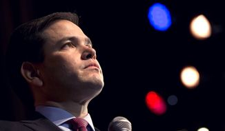 Republican presidential candidate Sen. Marco Rubio, R-Fla., speaks at a campaign event to the Sun City community in Bluffton, S.C., on Thursday Feb. 11, 2016. (AP Photo/Jacquelyn Martin)