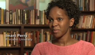 """Imani Perry, a black professor of African American Studies at Princeton University, is claiming she was racially discriminated against when she was arrested Saturday over a 3-year-old parking ticket. (YouTube/""""White Like Me"""")"""