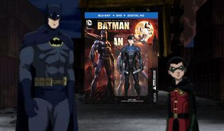 Dick Grayson as the Dark Knight and Damian Wayne as Robin in Batman: Bad Blood, Limited Edition Gift Set now available in the Blu-ray format from Warner Bros. Home Entertainment.