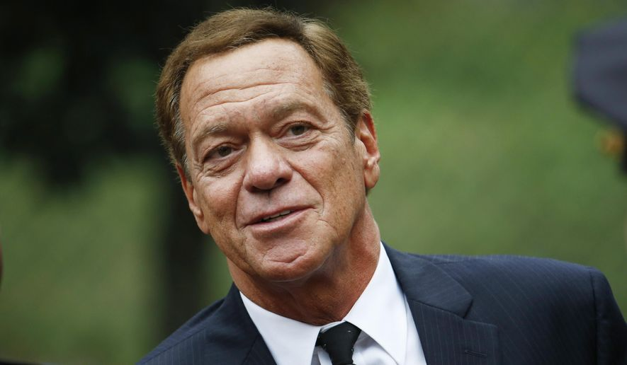 Comedian Joe Piscopo arrives at Church of the Immaculate Conception prior to funeral services for New York Yankees Hall of Fame catcher Yogi Berra in Montclair, N.J., in this Sept. 29, 2015, file photo. (AP Photo/Julio Cortez)