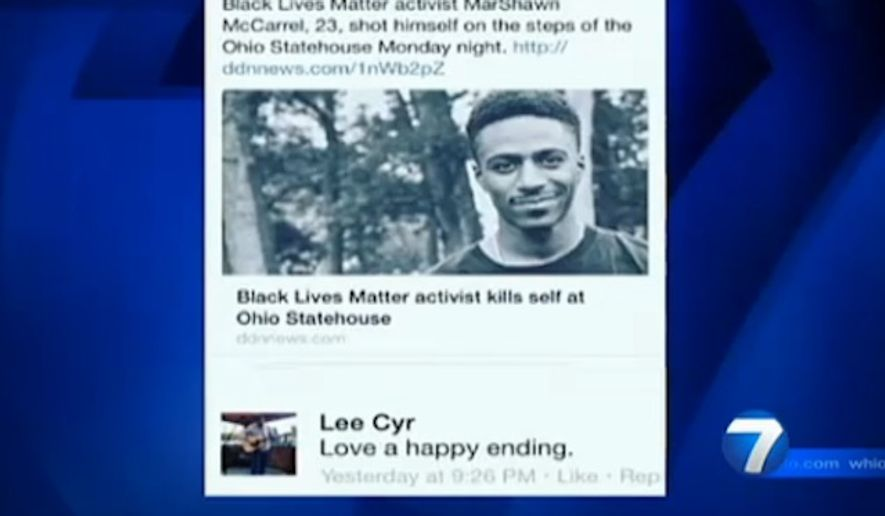 An Ohio police officer has been placed on administrative leave over a Facebook comment celebrating the suicide of a Black Lives Matter activist. (WHIO)