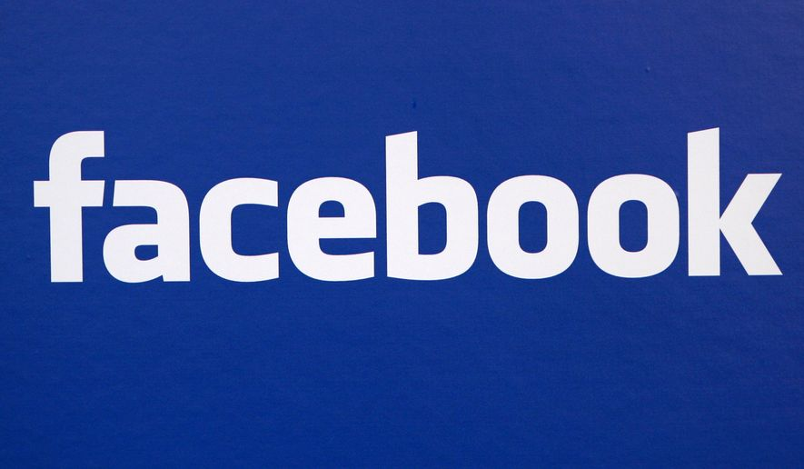 In this Nov. 6, 2007, file photo, the Facebook logo is displayed at a Facebook announcement in New York. (AP Photo/Craig Ruttle, File)