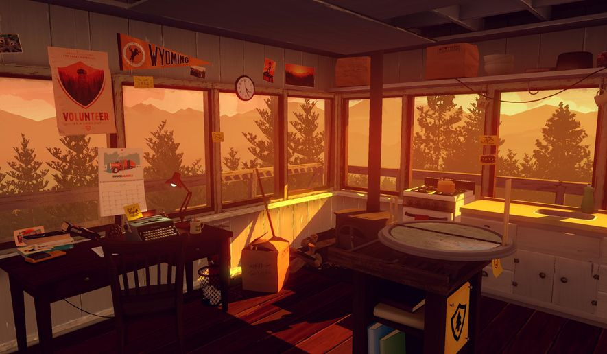 "This video game image released by Campo Santo shows a scene from ""Firewatch."" (Campo Santo via AP)"