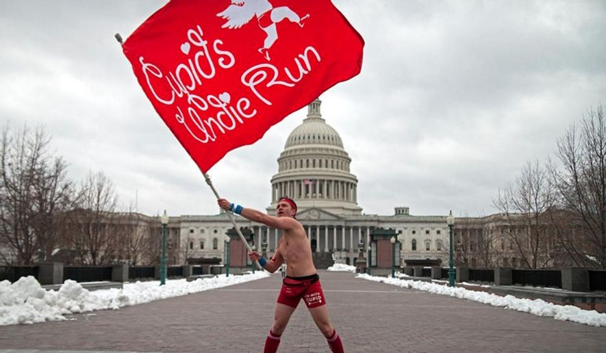 Cupid's Undie Run will raise awareness and money for neurofibromatosis (NF) research through the Children's Tumor Foundation (CTF). (Image: https://www.facebook.com/CupidsUndieRun)