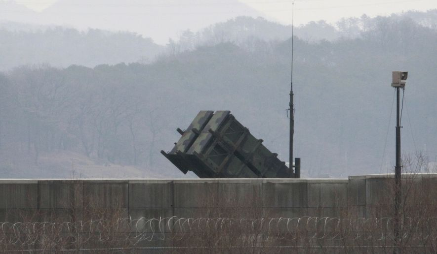 U.S. Patriot missiles are deployed in South Korea to respond to North Korea's nuclear testing. (Associated Press)