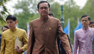 Thai Prime Minister Prayuth Chan-ocha, the former general who took power in a military coup nearly two years ago and shows no signs of preparing to step aside. He will meet with President Obama at a summit of Southeast Asian leaders this week. (Associated Press)