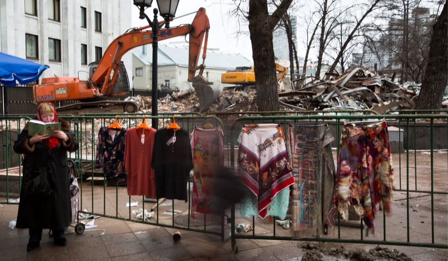 Russian activists are criticizing Moscow authorities over the late-night destruction of small businesses after a number of buildings were ruined around the city. (Associated Press)