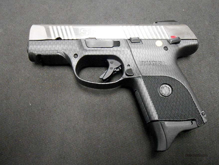 """RUGER SR9, .40 &.45 - The Ruger SR-series are a line of semi-automatic pistols manufactured by Sturm, Ruger & Company. At 1.18in  thick through the grip, it is touted by Ruger as one of the thinnest double-stack pistols available. The SR-series has been marketed as a backup/concealment weapon for law enforcement as well as for civilian concealed carry. The Ruger SR9 chambered for the 9x19mm Parabellum cartridge was introduced in October 2007, and the slightly smaller SR9c came out in January 2010. The Ruger SR40 chambered for the .40 S&W cartridge came out in October 2010, and the compact SR40c in June 2011. Starting in the early 2000s, the rapid growth of legislation and regulations allowing concealed carry by law-abiding citizens in various jurisdictions created a large market for handguns manufactured specifically for such use. Desirable characteristics for firearms of this type include: small size, thinness, high magazine capacity, lightweight construction (often achieved through the use of polymer frames), stealthy darkened stainless steel slides, high visibility and/or night sights, and large ergonomic ambidextrous manual thumb safeties and magazine releases. Ruger specifically designed the SR9 pistol to address the very active and profitable concealed-carry handgun market segment and it possesses the majority of the aforementioned attributes. The SR9 is the first large-caliber striker fired pistol designed and manufactured by Sturm Ruger. Similar to Glock's """"safe action"""", the striker fired SR9 features a pre-set trigger. With this type of action, the striker is partially cocked when the slide is cycled, then is fully cocked and released when the trigger is pulled. Due to safety concerns, the moderately long and heavy trigger pull of this type is seen as ideal for law enforcement and self-defense applications.The SR9 and SR9c have an identical trigger group."""