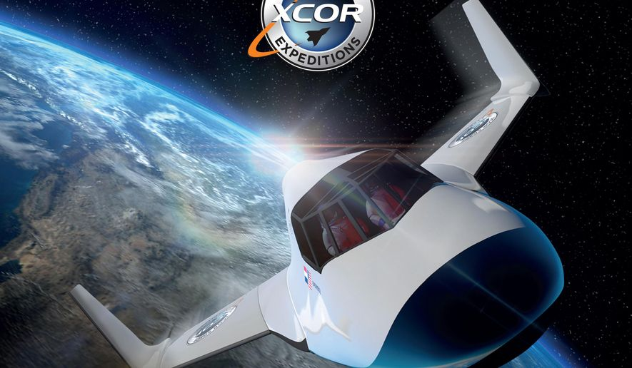 This undated image provided by XCOR shows the XCOR Lynx, a suborbital horizontal-takeoff, horizontal-landing, rocket-powered spaceplane under development by the California-based company XCOR. (XCOR via AP)