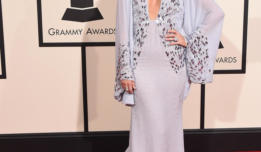 Keltie Knight arrives at the 58th annual Grammy Awards at the Staples Center on Monday, Feb. 15, 2016, in Los Angeles. (Photo by Jordan Strauss/Invision/AP)