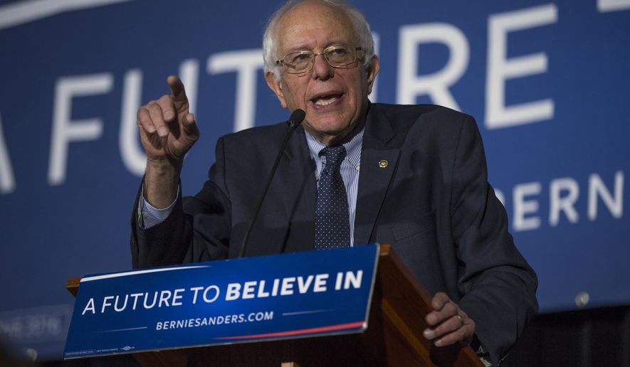 Democratic presidential candidate Sen. Bernie Sanders, I-Vt., speaks during a town hall at the University of South Carolina, on Tuesday, Feb. 16, 2016, in Columbia, S.C. (AP Photo/Evan Vucci)
