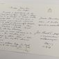"""One of hundreds of letters that Polish Cardinal Karol Wojtyla, later Pope John Paul II sent to a Polish-American philosopher  during the 32 years of joint work and friendship between the two, now  kept  at the National Library in Warsaw, Poland, on Tuesday, 16 Feb. 2016.  The library bought hundreds of letters for a """"seven-digit"""" amount in 2008 from the woman, the Polish-born American thinker Anna-Teresa Tymieniecka, and is planning to have them published in the coming years.   (AP Photo/Czarek Sokolowski)"""