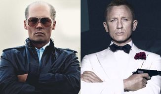 """Johnny Depp stars as James Bulger in """"Black Mass"""" and Daniel Craig stars as James Bond in """"Spectre,"""" now available on Blu-ray."""