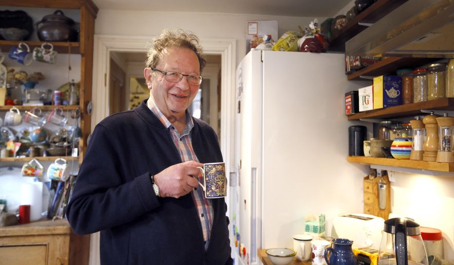 Larry Sanders at home in his kitchen in Oxford, England, Monday, Feb. 15, 2016. These are exciting times for Larry Sanders, a stalwart Green Party campaigner in Oxford, England. He's just been appointed to a new job as his party's national spokesman on health.  And he's helping out his little brother Bernie with a small electoral campaign on the other side of the Atlantic. Vermont Sen. Bernie Sanders is an outsider who has far exceeded expectations as he battles Hillary Clinton for the Democratic Party's presidential nomination. The left-wing senator has energized thousands of young supporters with his promise to transform the American economy, education and health care systems, and last week gained more momentum by winning the New Hampshire primary.  (AP Photo/Kirsty Wigglesworth)