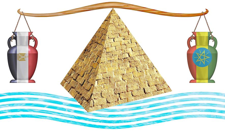 Ethiopia Sharing the Nile with Egypt Illustration by Greg Groesch/The Washington Times