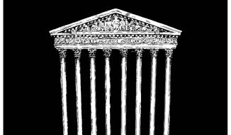 Illustration on the void left by the passing of Justice Antontin Scalia by Tim Brinton/Tribune Content Agency