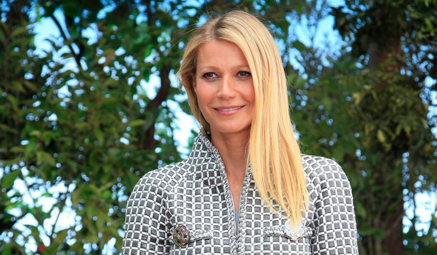 Actress Gwyneth Paltrow poses for photographers before Chanel's Spring-Summer 2016 Haute Couture fashion collection in Paris in this Jan. 26, 2016, file photo. (AP Photo/Thibault Camus, File)