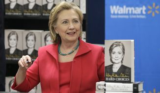 Unlike many other liberals, Hillary Clinton and her husband have refused to publicly brutalize Wal-Mart over the company's pay scale and anti-union policies, leaving her open to attacks from Mr. Sanders and his allies, who say it's proof she can't be trusted to carry the economic warfare message Democrats need this year. (Associated Press)