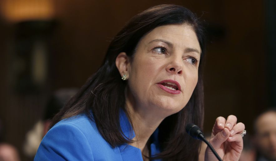 The Judicial Crisis Network announced a seven-figure advertising campaign defending Republican senators up for re-election this year vowing to block an Obama Supreme Court nominee, including Sen. Kelly Ayotte of New Hampshire. (Associated Press)